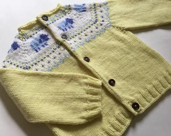 Princess Charlotte hand knit cardigan 6-12 months