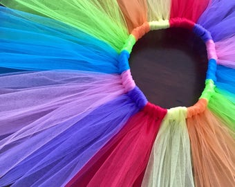 Girls Rainbow tutu-Baby girl tutu skirt-baby rainbow tutu-toddler rainbow tutu-Rainbow birthday party-1st birthday outfit-brightly colored