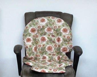Graco baby accessory, Duodiner or Blossom highchair pad, replacement pad, child chair cushion, kids furniture, feeding chair pad, rusty rose