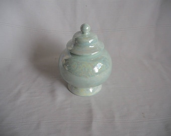 Small  #50 Ceramic Cremation Urn / Mother of Pearl