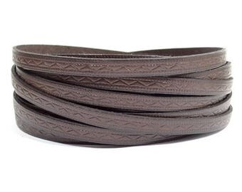 8mm Roman Leather - Brown - Choose Your Length