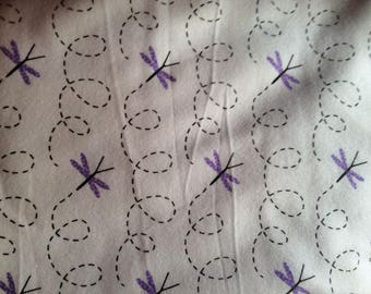 Pillowcase Set for Standard Size Bed Pillows Flannel Dragonflies
