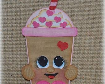 Frappuccino Shopkins Birthday Coffee Premade Scrapbooking Embellishment Paper Piecing