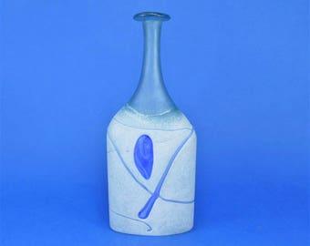 BODA Glass VASE - Artist signed - Bertil Vallien - Kosta Boda Studio Glass