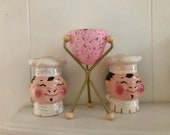 Vintage Atomic MINI Bullet Planter in PINK   -- Hand Made -- Vintage Style -- Mid Century Modern