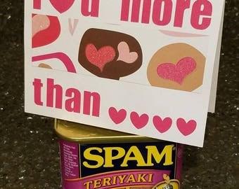 I love you more Valentine Card