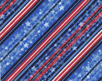 60 - 5x5 Pre-cut Cotton Red White and Blue Quilt Squares