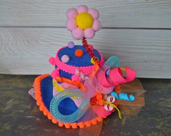 Clown Hat, Clown Top Hat, Dog Clown Hat, Hats for Dogs, Dog Costume, Pet Costume, Dog Birthday Hat, Pet Gifts, Gifts for Pets