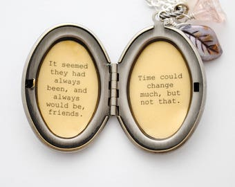 Winnie the Pooh Locket - Pooh Quote Locket - It seemed they had always been and always would be friends. Time could change much,but not that