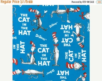 Awesome CAT in the Hat  Fabric