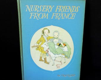 Vintage Book House Nursery Friends from France Children's Book - Decorative Story Book for Child - Bed Time Stories