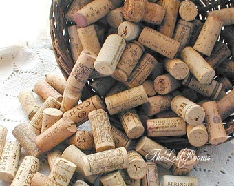 Salvaged Natural Wine Cork Lot of 50 - Wine Corks to repurpose