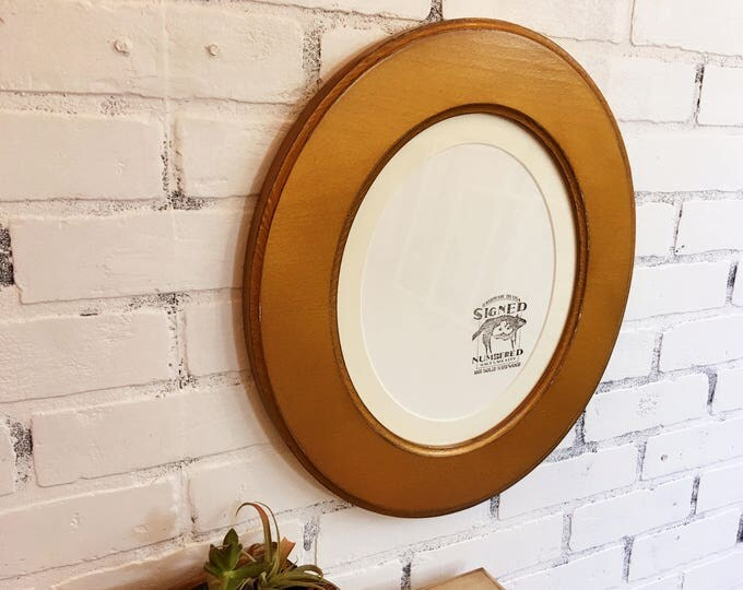 10x12  or 8x10 with Mat Oval Opening Picture Frame Oval Shaped Outside with Vintage Roman Gold Finish - IN STOCK - Same Day Shipping