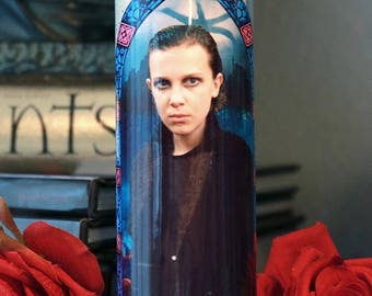 Saint Eleven Punk Prayer Candle / Stranger Things 2 / Eleven 011 / Bitchin