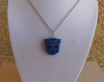 Transformers Autobot Blue Howlite Necklace