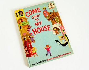 Vintage 1960s Childrens Book / Come Over to My House by Theo LeSieg 1966Hc / Dr Seuss 'I Can Read It All By Myself Beginner Book