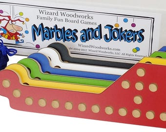 New Marbles and Jokers 6-Player Game with Interlocking paddles.
