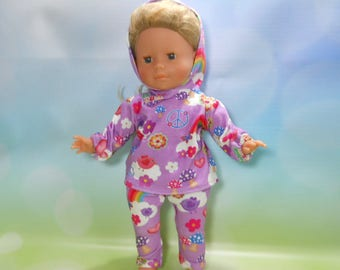 """14 inch toddler doll clothes, 14 inch toddler play outfit, Fits dolls like Little Mommy, Corollle 14"""" toddler doll, My Life, 02-2761"""