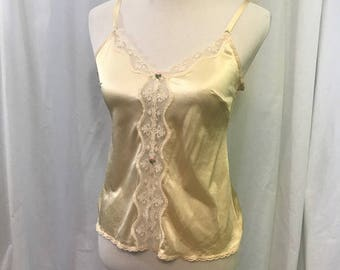 Vintage Cream and Lace Cami Camisole S 32