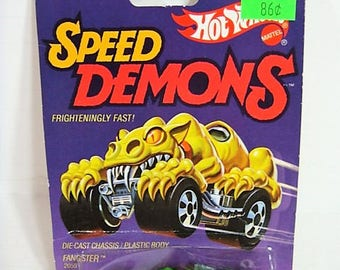 Vintage Hot Wheels Speed Demons Fangster #2059 New Vintage Stock Hot Wheels