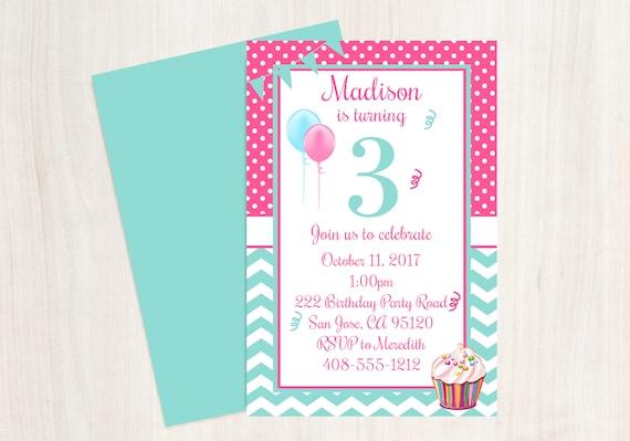 3rd birthday party invitation 3rd birthday third birthday il570xn filmwisefo