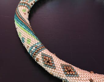 Beginnings Necklace Kit Single Stitch Bead Crochet Pattern & Kit