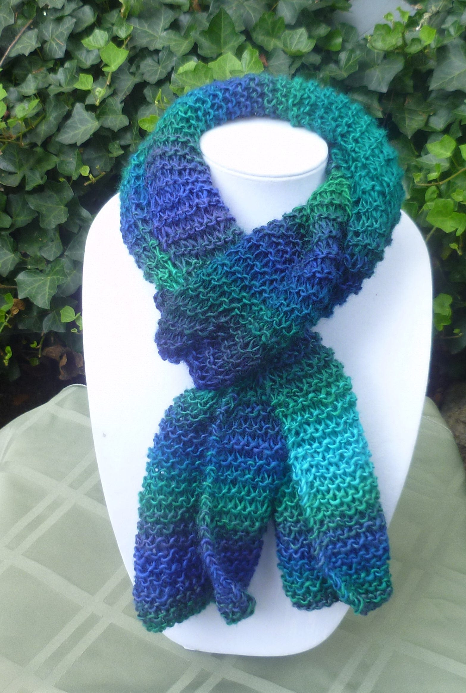 Hand Knit long scarf, Hand Knit multi color scarf, hand knit womens scarf,