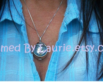 Silver Flat Back Locket with Chain- Pre Order Sale