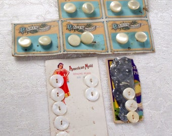 Vintage Mother of Pearl Buttons and Shirt Studs