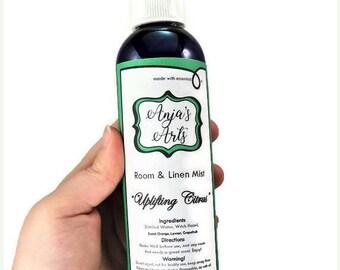 25% Off Sale Uplifting Citrus Room & Linen Fine Mist Spray 8oz Essential Oils