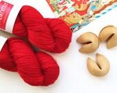 BFL Supersock British Bluefaced Leicester / Nylon sock yarn - Firecracker