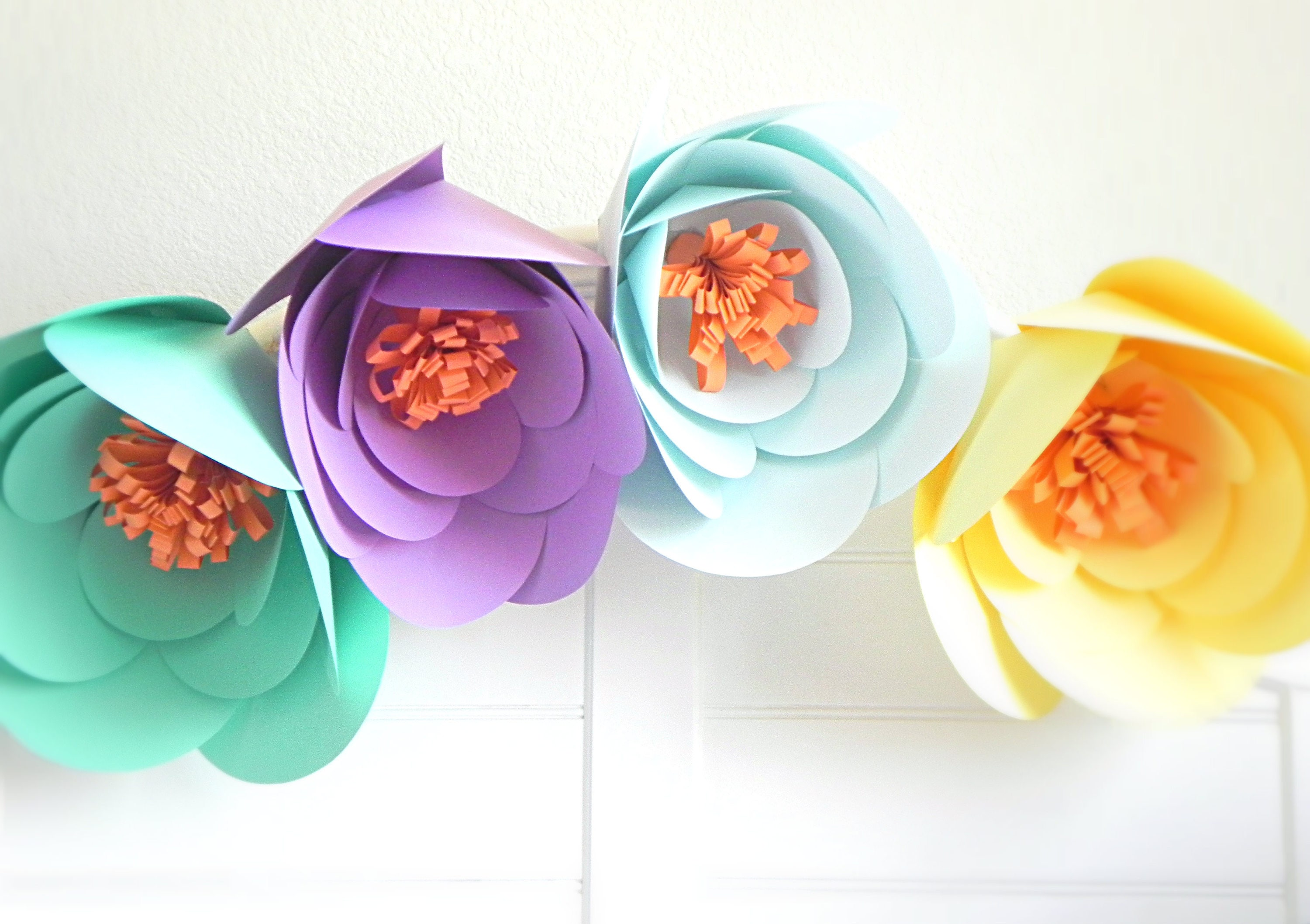 Giant Paper Flowers Paper Flower Wall Giant Flower Large Paper