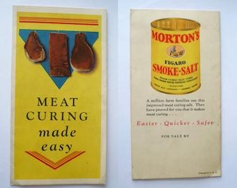 MEAT CURING Made Easy Vintage Morton Salt Publication Illustrated OLD