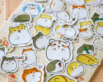 Ebichu Hamster Kamio Cartoon Sticker Flakes