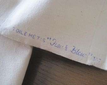 Unused heavy French linen metis sheets.  Excellent fabric for projects; upholstery, curtains, home interiors.