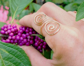 Adjustable Copper Wire Spiral Ring in different colors Each is  Custom Made to Order