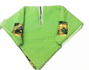 Car Seat Poncho 4 Kozy Kids(TM)pockets, double sided, reversible, opt to add detachable hood & batting, warm-John tractor brown yellow green