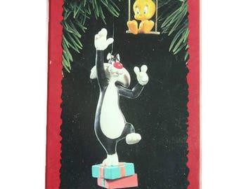 Sylvester and Tweety Bird Looney Tunes Hallmark Keepsake Ornament