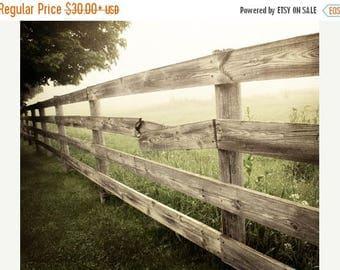Rustic Fence Print, Country Landscape, Rustic Farmhouse Decor, Canvas Print, Rustic Home Decor, Country Landscape Print, Country Fence Photo