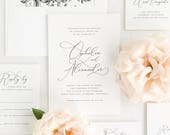 Ophelia Wedding Invitation - Deposit