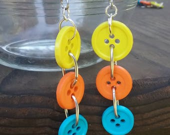 Bright Button Earrings