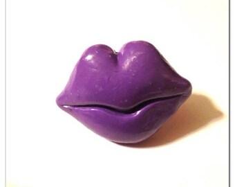 BIG Clearance Sale Dark Purple Lips Adjustable Ring