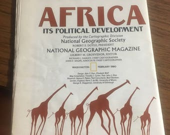 1980 National Geographic Africa its political developement map. Nice latge map.