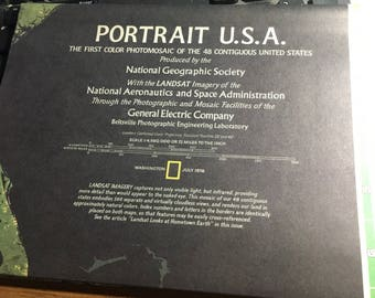 Portrait USA national geographic 1976 black green .