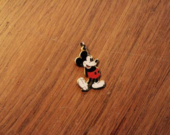 80s Classic Mickey Mouse gold-toned charm pendant