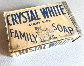 Vintage Original Crystal White Detergent Soap Bar