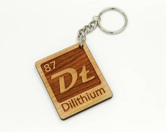Dilithium Chrystal Element Key Chain or Clip - Geekery Key Chain - Nerdy Cool Science Gift - Sci Fi Fan Gift - Keychain or Backpack Clip