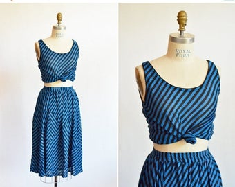 25% off Storewide // Vintage made in ITALY knit skirt set