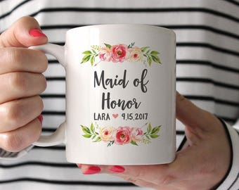 Maid of Honor Gift Wedding Gifts for Maid of Honor Gift Ideas Maid of Honor Gift from Bride Maid of Honor Gift for Sister Wedding Gift Mug