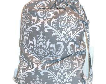 Laundry Bag, Duffle Bag, Storage Bag, Clothing Bag, Designer Laundry Bag, Grey Laundry Bag, Extra Large Laundry Bag. Gray Laundry Bag